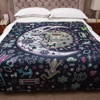 Elephant Colored Printed Tapestry Decorative Boho Wall Carpet Indian Mandala Tapestry 130cmx150cm 153cmx203cm