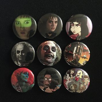 """BEETLEJUICE 1"""" buttons"""