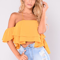 Bound To Glow Top - Mustard