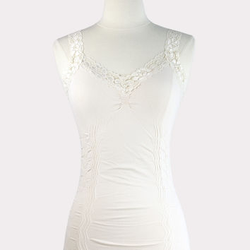 Corset Cami with Lace in Ivory