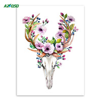 Vintage Retro Art Prints Posters Animal Deer Head Skull Indian Feather Dream Catcher Canvas Painting Home Decor PP088