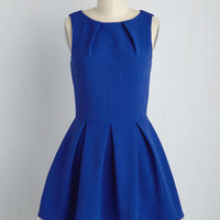 Luck Be a Lady Dress in Cobalt and Lace