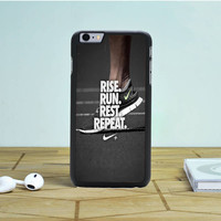 Rise Run Rest Repeat Just Do It iPhone 6 Plus Case Dewantary