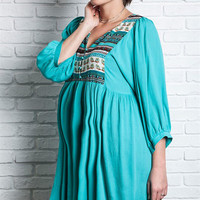 Tribal Flow Maternity Tunic