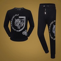 Boys & Men Philipp Plein Top Sweater Pullover Pants Trousers Set Two-Piece Sportswear