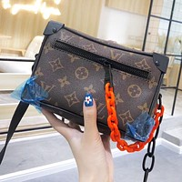 Louis Vuitton LV Women Men Retro Leather Box Shoulder Bag Crossbody Satchel