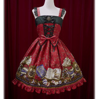 天幕裏の赤ずきん柄ジャンパースカートⅠ/Little Red Riding Hood behind the tent jumper skirt Ⅰ | BABY,THE STARS SHINE BRIGHT