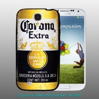 CORONA Extra Beer Bottle - design for Samsung Galaxy S4 Black case
