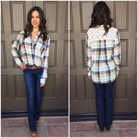 Country Girl Plaid Blouse
