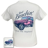 Girlie Girl Originals Preppy Just Beachin Jeep T-Shirt