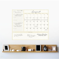 Dry Erase 1-Month Calendar Decal