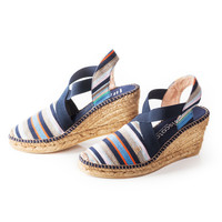 Fornells Wedges - Navy Pattern