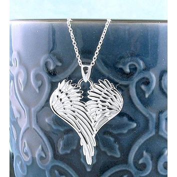 Peaceful Folded Angel Wings Pendant