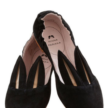 Minna Parikka Quirky Little Bunny Shoe Shoe Flat in Black