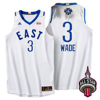 2016 Toronto NBA All-Star Eastern Conference Miami Heat Dwayne Wade #3 White Jersey