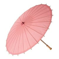 Luna Bazaar Paper Parasol (20-Inch, Bambina Pink) - Chinese/Japanese Paper Umbrella - For Children, Decorative Use, and DIY Projects
