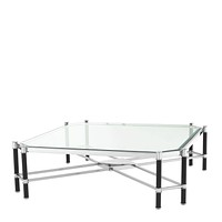 Silver Cross Frame Coffee Table | Eichholtz Florence