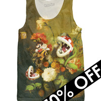 Still Life with Flowers and Piranha Plants Tank Top