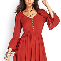Peasant-Style Fit & Flare Dress