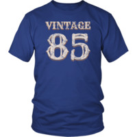 Men's Vintage 85 Tshirt 33rd Birthday Gift for 33 Year Old