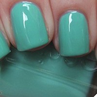 Essie Nail Polish (E720-Turquoise & Caicos) NEW CREAMY MINT GREEN COLOR
