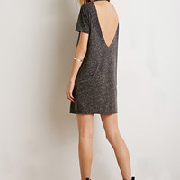 V-Back Slub T-Shirt Dress