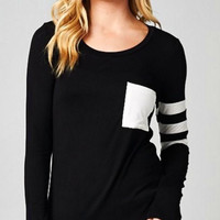 Sporty Knit Top - Black