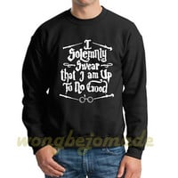 Harry Potter Halloween Sweatshirt I solemnly swear that I am up to no good Black Grey and White Color Unisex Sweatshirts