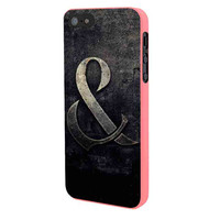 Of Mice And Men Band Logo In Stone iPhone 5 Case Framed Pink