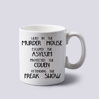 Lived in the Murder House American Horror Story Mug Cup Two Sides 11 Oz Ceramics
