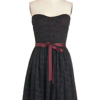 ModCloth Short Length Strapless A-line Play Your Party Dress