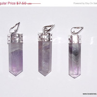 ON SALE AAA+++ Amethyst Point pendants for Quartz Crystal, Reiki, Point Healing, Crystal Healing, New Age Metaphysical, Aura Cleansing