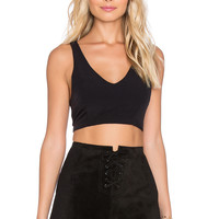 Lucca Couture Racerback Crop Top in Black