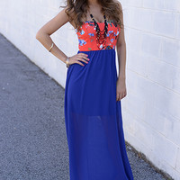 The It Girl Maxi, Royal Blue