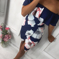 Print Irregular One Piece Dress [11285946383]