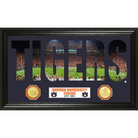 Auburn University Word Art Bronze Coin Panoramic Photo Mint