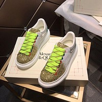Alexander McQUEEN Men Fashion Boots fashionable Casual leather Breathable Sneakers Running Shoes-41