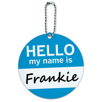 Frankie Hello My Name Is Round ID Card Luggage Tag