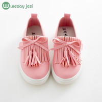 Kids shoes spring girls leather shoes princess tassel Flats children shoes girls cute sneakers for toddler girls trainers