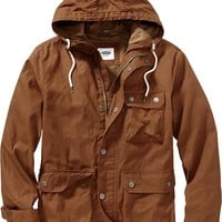 Men's Hooded Canvas Jackets