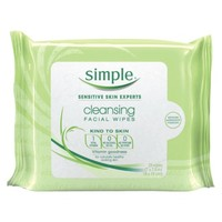 Simple Cleansing Facial Wipes - 25 count