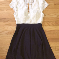Lace & Navy Party Dress