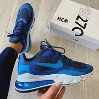 Nike Air Max 270 React Rhea racing series rear half palm cushion all-match sports jogging shoes men and women shoes