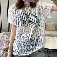 DIOR Hollow out Short sleeves T shirt