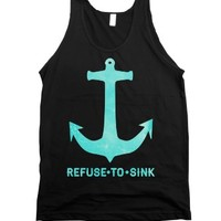 Refuse to Sink-Unisex Black Tank