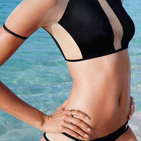 Black Bikini with Sheer Mesh Accent