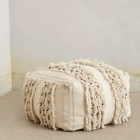 Moroccan Wedding Pouf by Anthropologie in White Size: One Size Furniture