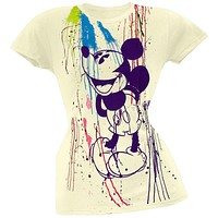 Mickey Mouse - Splatter Juniors T-Shirt