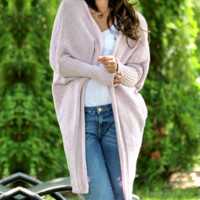 Explosion models autumn and winter women's long cardigan loose sweater