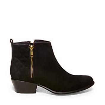 Black Leather Ankle Boots   Steve Madden Nyrvana Booties